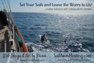 sailing with a dolphin - image